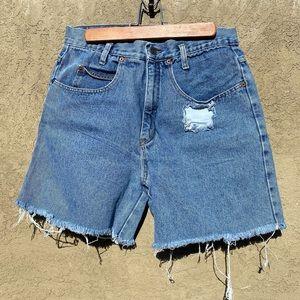 LEI Vintage 90s Cut Off Denim Jean Shorts M
